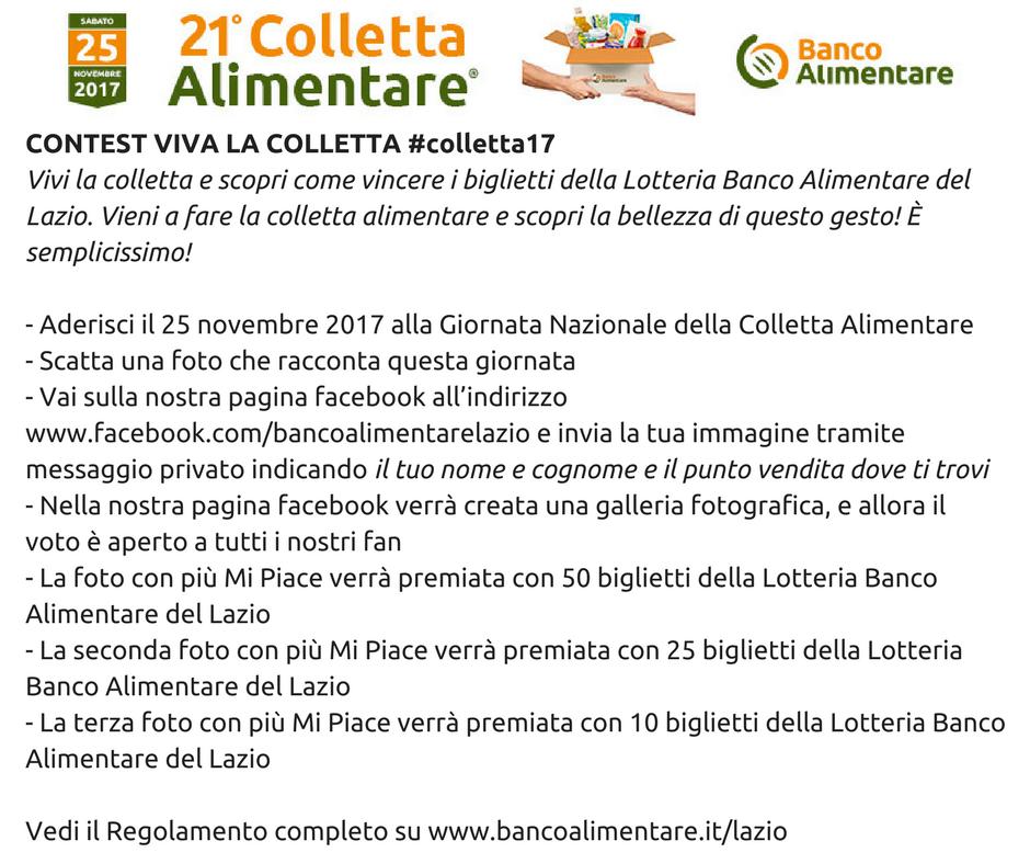 contest viva la colletta #colletta17 | banco alimentare