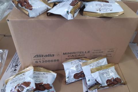 Le eccedenze donate da Alitalia a Banco Alimentare